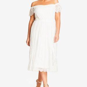 White CityChic midi dress